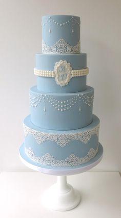 Wedgwood Wedding Cake