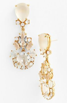 Princess status | Sparkly Kate Spade drop earrings