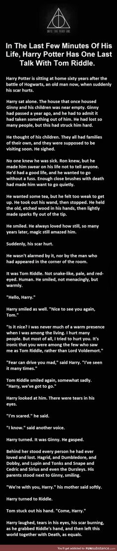 I do believe I speak for all of the Harry Potter Fandom when I say are you F*cking kidding me this is one of the most heart wrenching to and yet so J. K. Rowling thing I've ever read yet
