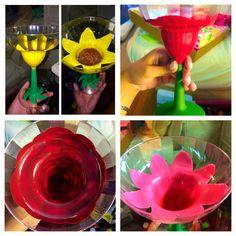 Flower painted margarita glasses