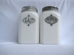Hazel Atlas Milk Glass Salt and Pepper Shakers