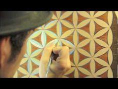 FLOWER of LIFE: Sacred Geometry, Making a Flower of Life Mandala - YouTube