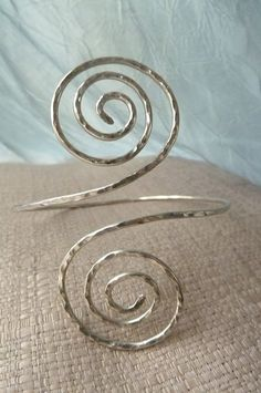 Greecian Swirl Upper Arm Cuff  Hammered Arm by beadifulexpressions, $20.00