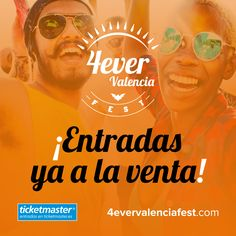 ¡Entradas a la venta con promoción especial de lanzamiento! Descubre todos los detalles en nuestra web https://www.4evervalenciafest.com/entradas/    Venta exclusiva en @TicketmasterES   #4everValenciaFest #4evers #Valencia #festival #laradiode4everValenciafest