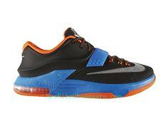 free shipping 39bfa 56875 Nike KD 7 Away - Chaussure De Basket-ball pour Homme Pas Cher Noir Bleu-653996-004  - Boutique Nike, Nike Baskets Pas Cher en Ligne