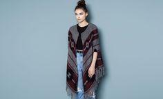 Pull&Bear - mujer - punto - chaqueta étnica flecos - gris vigo - 09585353-I2014