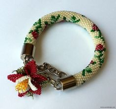 Beaded bracelet - Beaded Crochet Bracelet