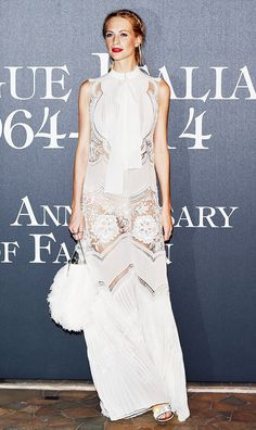 Poppy Delevingne lace dress red carpet