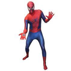 Morphsuits MLASPX - Amazing Spiderman 2 Kostüm Zappar, Größe XL, rot