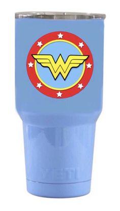 Yeti Travel Tumbler in Light Blue with Wonder Woman Logo Blue Yeti, Wonder Woman Logo, Insulated Tumblers, Light Blue, Travel, Women, Viajes, Destinations, Traveling