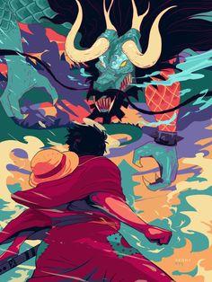 Rufy vs Kaido- one piece One Piece Manga, One Piece Drawing, Zoro One Piece, One Piece Ace, One Piece Fanart, Manga Anime, Anime Fnaf, Anime Art, One Piece Images