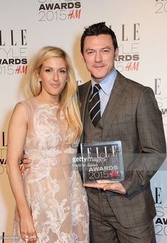 Presenter Ellie Goulding and Luke Evans winner of the Actor of the... Fotografia de notícias | Getty Images