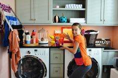 Real life laundry room | Smelly Towels? | Stinky Laundry?| Washer Odor? | http://WasherFan.com | Permanently Eliminate or Prevent Washer & Laundry Odor with Washer Fan™ Breeze™ |#Laundry #WasherOdor#SWS