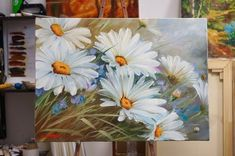 easy acrylic painting ideas for beginners on canvas Acrylic Flowers, Acrylic Art, Watercolor Flowers, Watercolor Paintings, Arte Floral, Beautiful Paintings, Painting Inspiration, Painting & Drawing, Daisy Painting