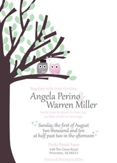 owl wedding invitation  #wedding #invite