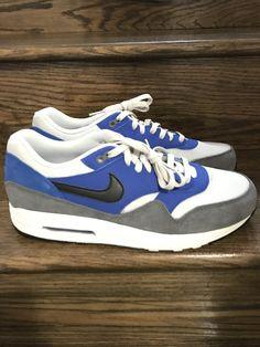 online store fbc5c bdccf New Mens Nike Air Max 1 Essential Hyper Colbalt Running Shoes Sz. 12 ID