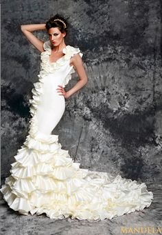 1000 images about spanish themed weddings on pinterest for Flamenco style wedding dress