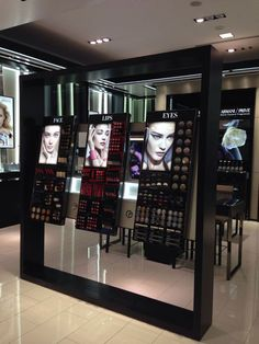 Pin by ewa anna rzyczniak on displays ideas cosmetic shop, makeup shop, sto Makeup Shelves, Makeup Display, Cosmetic Display, Cosmetic Shop, Cosmetic Design, Cosmetic Stores, Pop Display, Display Design, Display Shelves