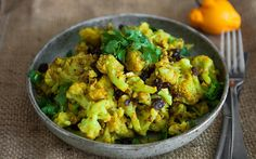 indian pan fried cauliflower