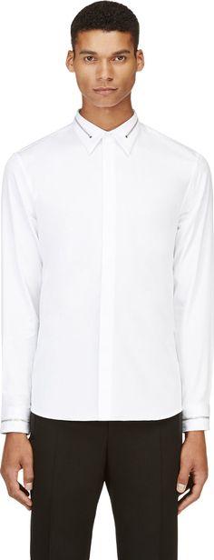 Givenchy - White Zipper Trim Shirt | SSENSE