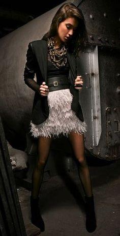 Robert Rodriguez Ostrich Feather Skirt | SHOPBOP