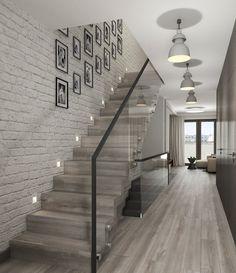 Staircase Design Modern, Home Stairs Design, Duplex House Design, Modern Stairs, Railing Design, Interior Stairs, Small House Design, Modern House Design, Home Interior Design