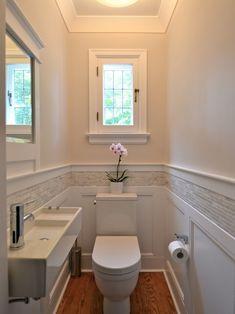 Bathroom Ideas Themes out Small Bathroom Shower Renovations above Bathroom Design Ideas With Window In Shower via Beach House Bathroom Ideas Pictures Ideas Baños, Decor Ideas, Tile Ideas, Ideas Para, Downstairs Toilet, Downstairs Cloakroom, Bathroom Renos, Wainscoting Bathroom, Master Bathroom