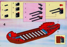 Thousands of complete step-by-step printable older LEGO® instructions for free. Here you can find step by step instructions for most LEGO® sets. Lego Instructions, Step By Step Instructions, Black Mode, Lego Pirate Ship, Lego Group, Lego Sets, Legos, Planer, Pirates