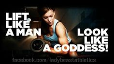 That means going past the 1-5kg dumb bells ladies and up to double digits!   ;)