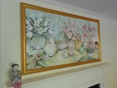 "A beautiful large-format watercolor still life, signed ""J. Waldman."""