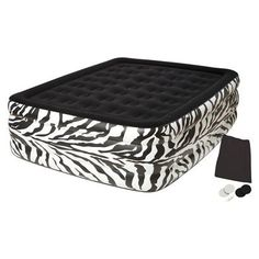 Pure Comfort Queen Waterproof Flocked Double High Air Mattress with Pump $49.99