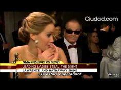 Jack Nicholson interrompe entrevista de Jennifer Lawrence #jenniferlawrence #jacknicholson #oscars