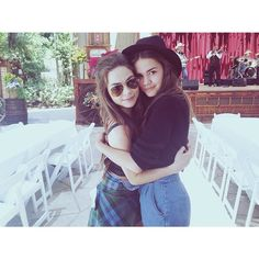 The ladies of The Fosters are so stylish! We love Caitlin Carver and Maia Mitchell's outfits in this photo.