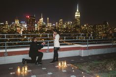 360 degree rooftop proposal! That was an amazing night!  #nyc #proposalny #proposalideas #engagement #engagementphotography #engagementpictures #engagementring
