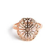Avinas Jewelry Collection 2015 - Flower ring rose gold plated - Modern and fancy ring
