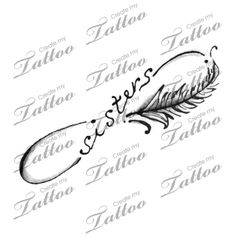 Marketplace Tattoo Sisters Infinity sign with Feather #13500 | CreateMyTattoo.com