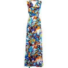 Warehouse Butterfly Print Silk Maxi Dress. found on Polyvore