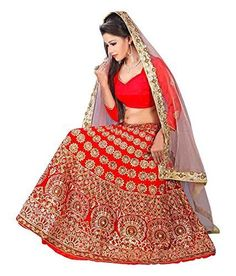 This Lehenga in Red Color With Embroidery Work