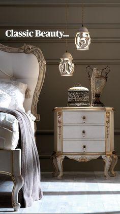 Luxury Bedroom Furniture, Bed Furniture, Home Decor Furniture, Home Decor Bedroom, Furniture Design, Room Decor, Bedside Cabinet, Master Bedroom Design, Classic Furniture