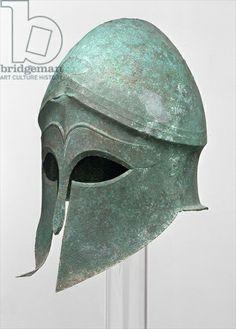 Corinthian Helmet, c.480 BC (bronze), Greek, (5th century BC) / Antikensammlung, Kassel, Germany / © Museumslandschaft Hessen Kassel / The Bridgeman Art Library