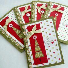 Read information on Handmade Christmas Card Ideas Cute Christmas Cards, Homemade Christmas Cards, Christmas Countdown, Xmas Cards, Handmade Christmas, Homemade Cards, Holiday Cards, Christmas Crafts, Christmas Trees