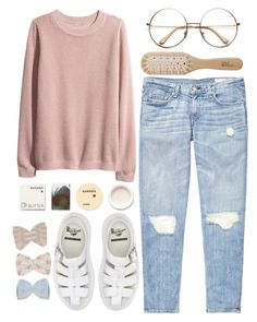 """""""bad pink"""" by ines-madrid ❤ liked on Polyvore featuring rag & bone, H&M, Chloé, Philip Kingsley, Dr. Martens, Korres, women's clothing, women's fashion, women and female"""