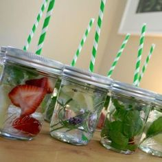 Water Bar - put out different things to go in water and let kids experiment with flavors for infused water.