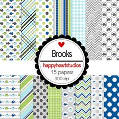 DigitalScrapbook Brooks INSTANT DOWNLOAD by azredhead on Etsy