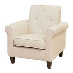 Best Selling Home Decor Isaac Tufted Fabric Club Chair | Lowe's Canada