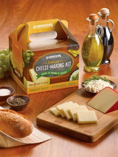 Deluxe Cheese-Making Kit. Make eight kinds of fresh, preservative-free cheese right at home. Kit makes farmhouse cheddar, gouda, colby, Monterey jack, cottage, feta, ricotta and parmesan cheeses.