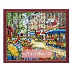 Раскраска по номерам Hobbart «Цветочный рынок». Купить за 1249 р. в магазине Разукрашка.