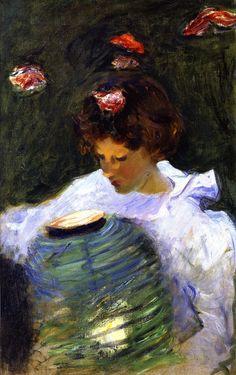 John Singer Sargent - Study for Carnation, Lily, Lily, Rose, 1885