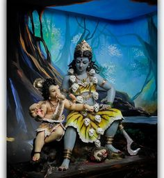 Kali Shiva, Shiva Hindu, Shiva Art, Ganesha Art, Shiva Shakti, Hindu Art, Shiva Parvati Images, Durga Images, Durga Painting