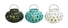 Ceramic Lanterns, Set of 3